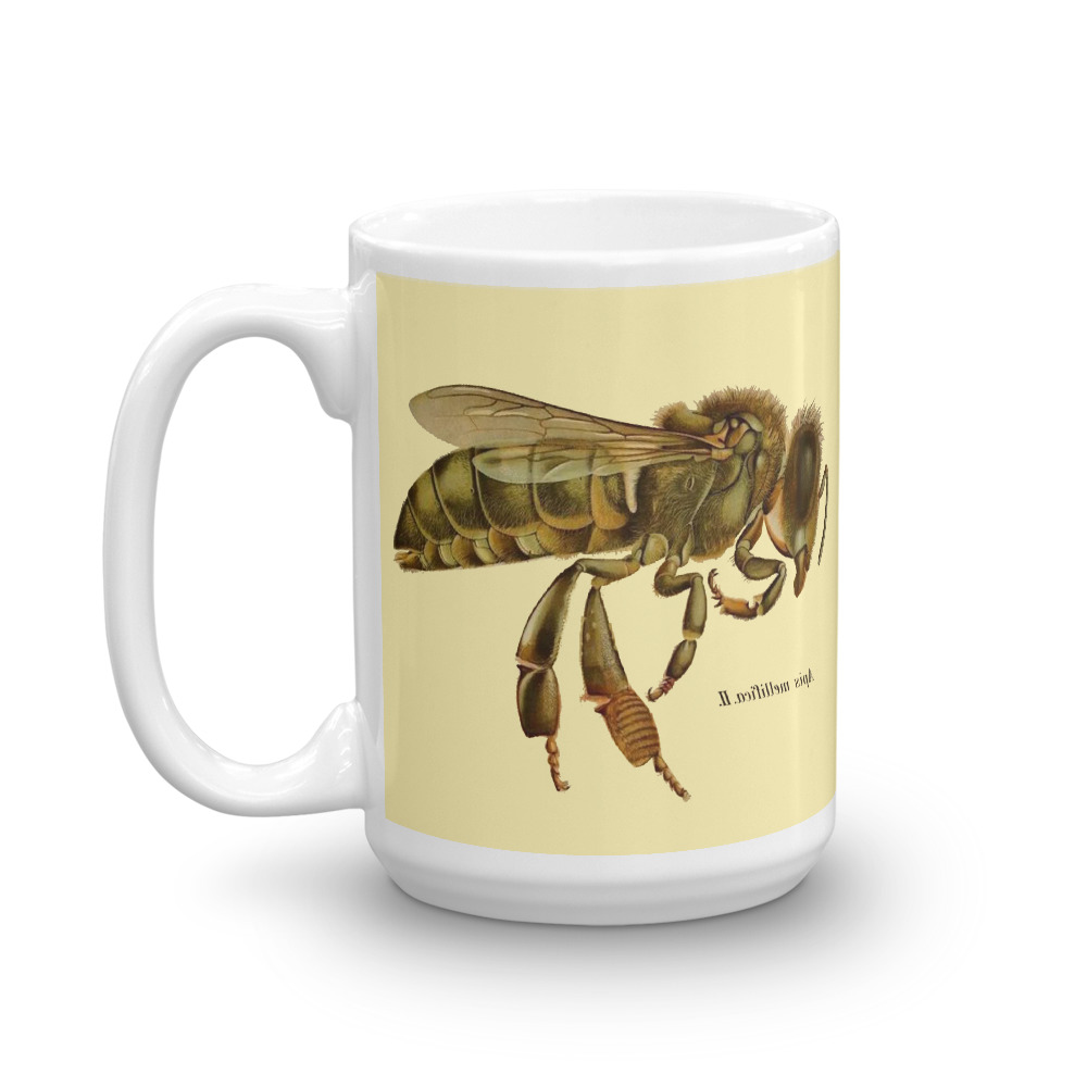 Bee Sepia Print Mug