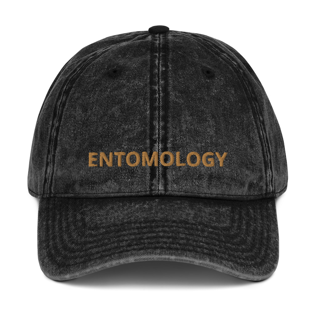 Embroidered Entomology Distressed Cap