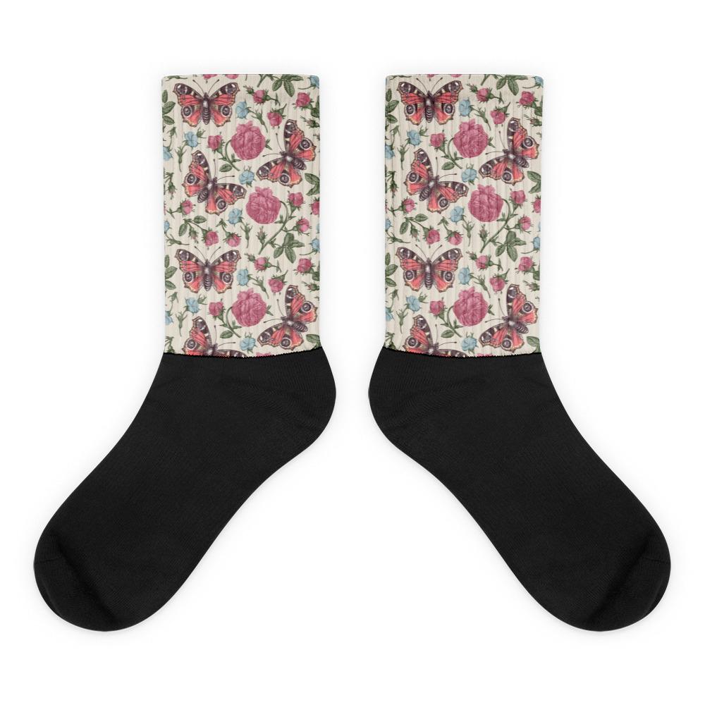 Mauve Butterfly Socks