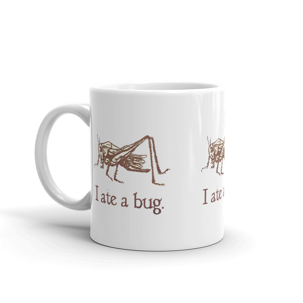 Vintage I Ate A Bug Mug